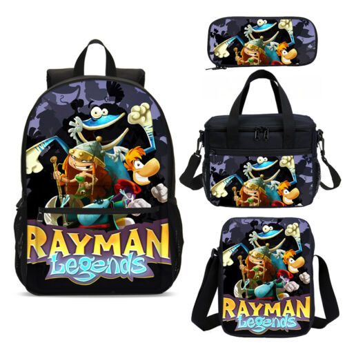 Anime Rayman Kids Schoolbag Cooler Box Pen Bag Picnic Leisure Bag Boy Gifts Lot