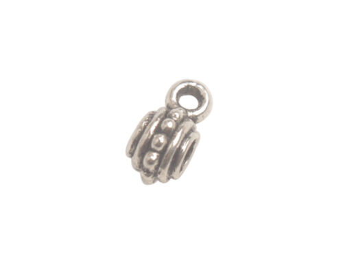6 Styles One Box of 155PCS Antiqued Silver Metal Styles Bail Connector Beads
