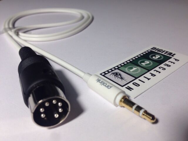 Bang & Olufsen compatible, AUX Din plug to 3.5mm Stereo Plug 1M lead  Free Post