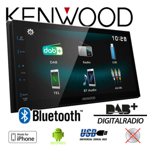 DAB Bluetooth 2-DIN Apple Android RADIO Kenwood DMX125DAB Coche