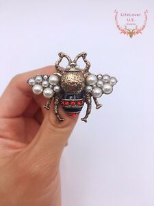 Women-Cute-Crystal-Rhinestone-Honey-Bee-Insect-Brooch-Pin-Charm-Jewelry-Party
