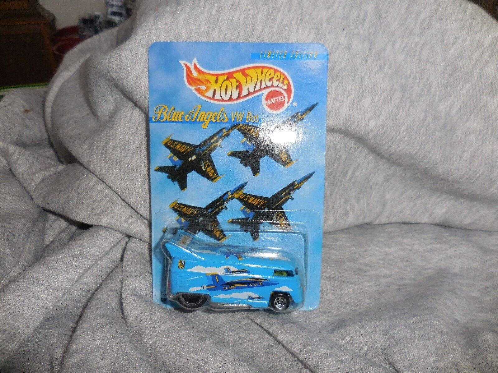 Hot Wheels 1997 bluee Angels VW Bus MOC