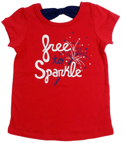 Girls Red Tee NWT Jumping Beans Size 9M 12M 18M 24M 2T 3T 4T Free to Sparkle
