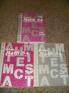Saxon Math 54 5/4 Textbook Tests Answer Key Homeschool Set ...