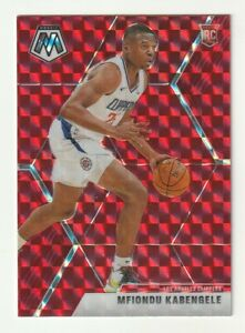 2019-20-Panini-Mosaic-Prizm-RED-Mfiondu-Kabengele-Los-Angeles-Clippers-RC-HOBBY