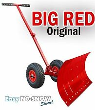 Heavy Duty Rolling Snow Shovel with Rotatable Steel Blade 5 Way Adjustabl... New