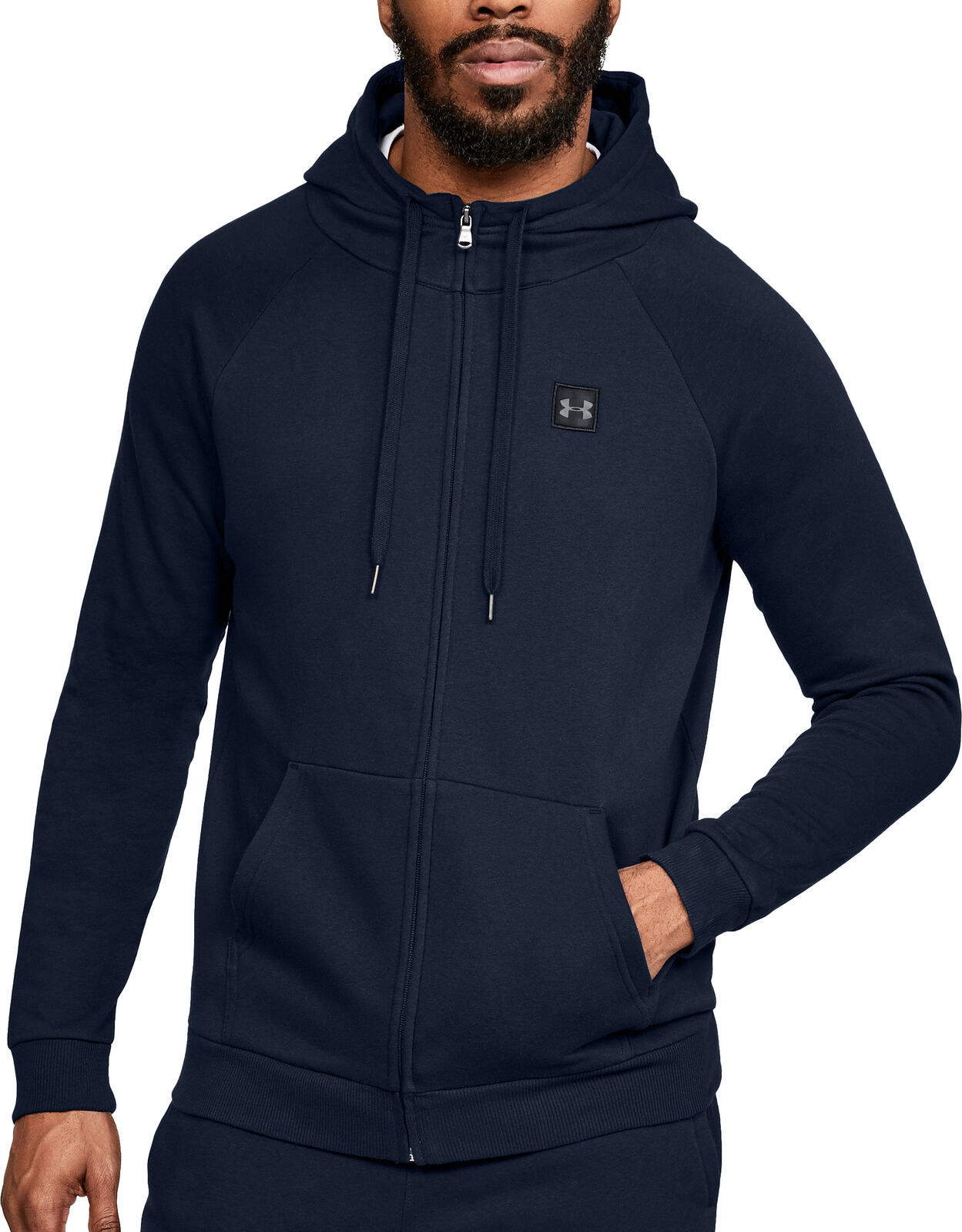 Under Armour Rival Rival Rival  Herren Full Zip Training Hoody - Navy a32aff
