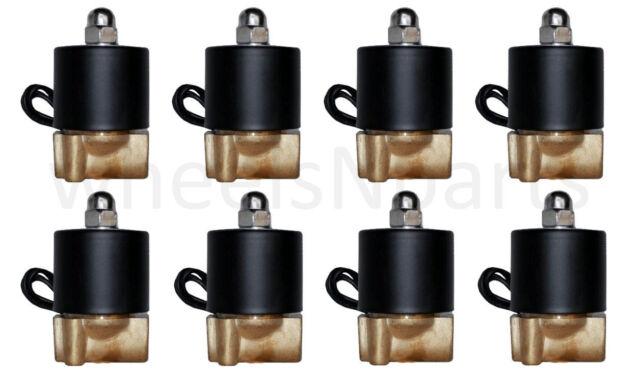 "air ride suspension air valves 8 brass 1/4""npt solenoid for train horn or custom"
