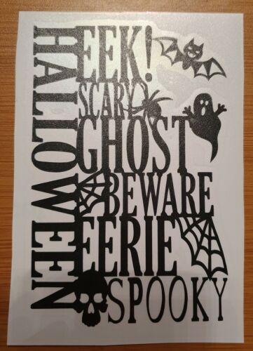 Halloween ghost spooky skull wine vase bottle vinyl decal sticker