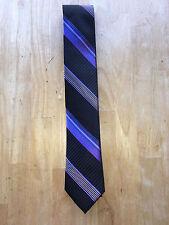 Ted Baker London Men's Necktie - Tie - Purple and Black Stripes