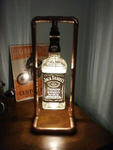 JD Steampunk Copper, Bottle Lamp, Table Light, Jack Daniels, Vintage ...