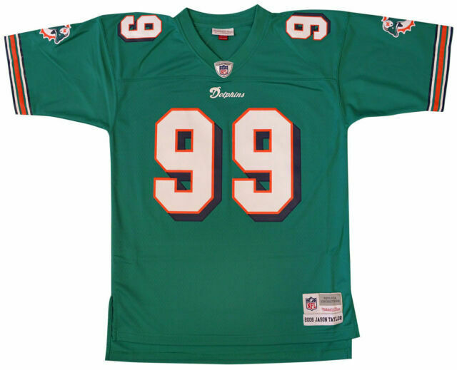 Jason Taylor Mitchell and Ness Authentic Dolphins Jersey Size XL