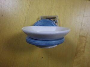 Portasapone Bagno In Ceramica.Dettagli Su Portasapone Piattino Porta Saponetta Legno Azzurro Ceramica Joss Accessori Bagno