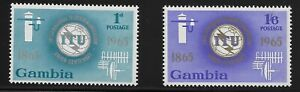 Gambia-Scott-210-11-Singles-1966-Complete-Set-FVF-MNH