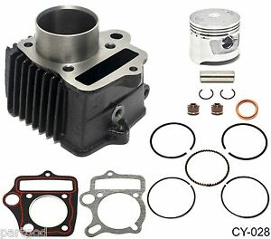 47mm CYLINDER /& PISTON KIT WITH RINGS /& GASKETS FOR 70cc ATV GO-CART /& DIRT BIKE