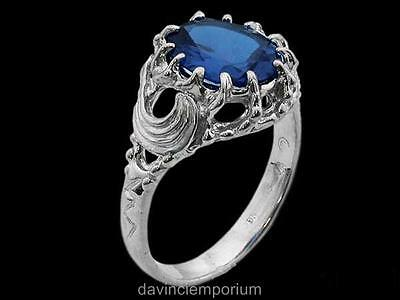 Vilya Elrond's Elven Ring of Power Sterling Silver Lord of the Rings