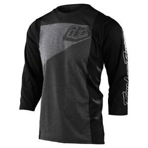 Troy Lee Designs Ruckus Jersey 3/4 Sleeve Tres Heather Gray Charcoal Medium