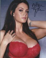 Alison Tyler Nice Cleavage Red Bra Adult Model Signed 8x10 Photo COA Proof AT X