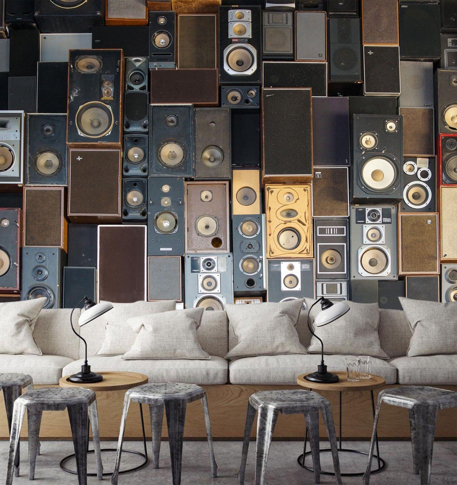 3D White Speakers 7017 Wallpaper Mural Paper Wall Print Indoor Murals CA Summer