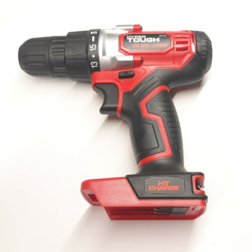 """Hyper Tough 20V Max Lithium Ion Drill Driver 3//8/"""" Keyless Chuck Tool Only"""