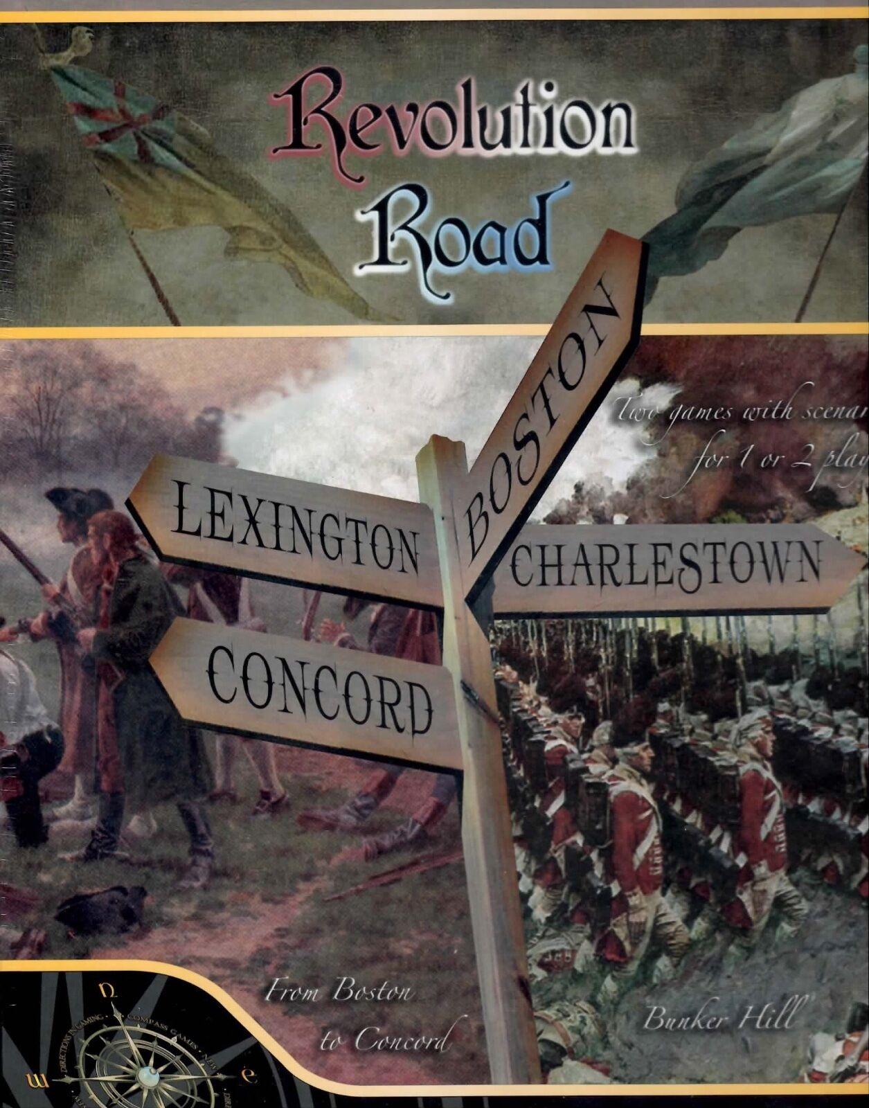 Compass Games Révolution RD  Boston, Charlestown,  Concord & Lexington Cellophane  prix plancher