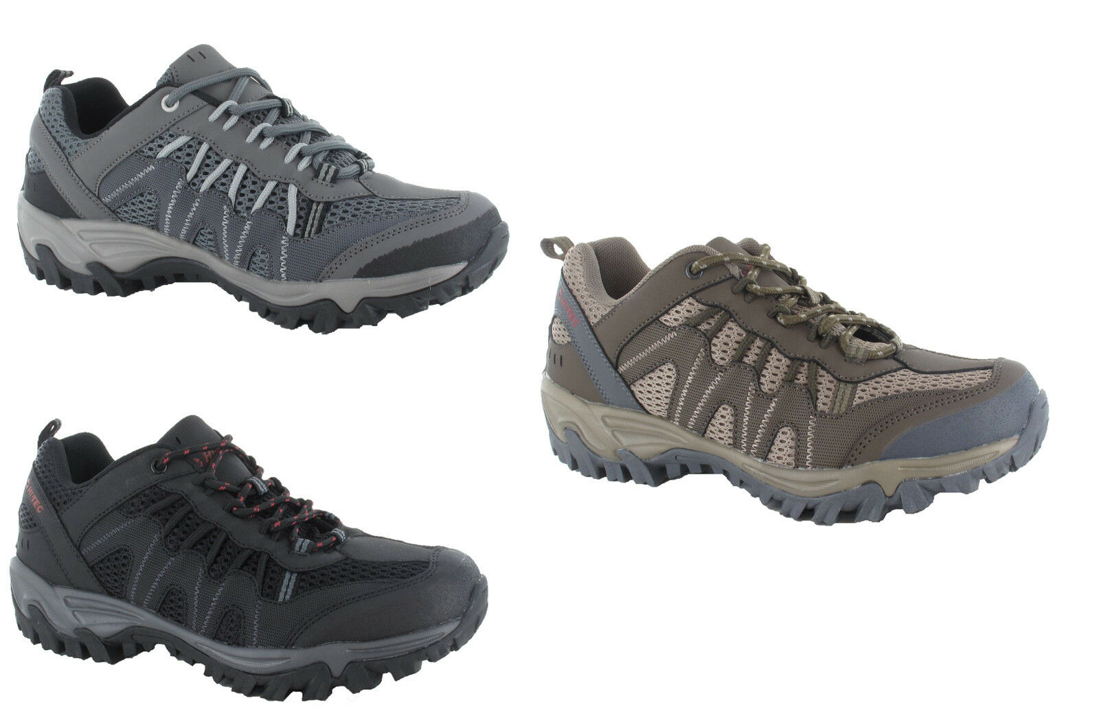 Hi-Tec Jaguar Mens Walking Outdoor Comfort Trail Trainer 3 Colours UK7-12