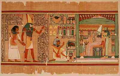 A4 Photo Ancient The Papyrus of Ani 1913 3 Print Poster