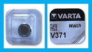 4x Murata//Sony 371 Uhren-Batterie Knopfzelle SR920SW AG6 Silberoxid Blister Neu