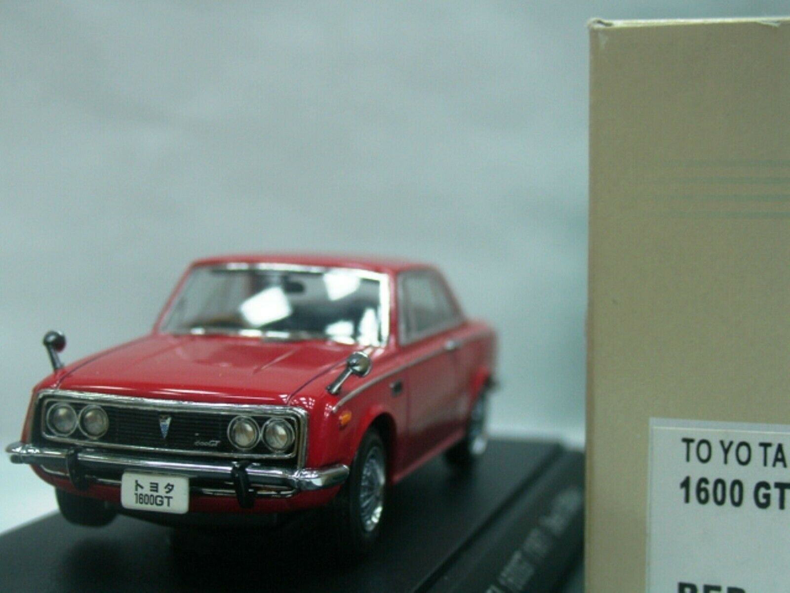 WOW EXTREMELY RARE Toyota 1967 Cgoldna RT55 1600GT 1600GT 1600GT RHD Red 1 43 Ebbro-DISM 71b2de