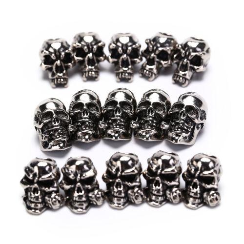 5pcs lot Paracord Perlen Metall Schädel für Paracord Armband Zubehör QY