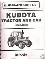 Kubota M5950 Tractor Amp Cab Parts Manual