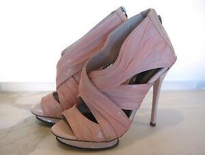 Details about Wayne Cooper Sz 39 8 5 8 ½ Designer Pink Heels Shoes
