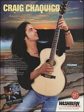 Craig Chaquico 1995 Washburn Woodstock EA20 Acoustic Guitar 8 x 11 ad print