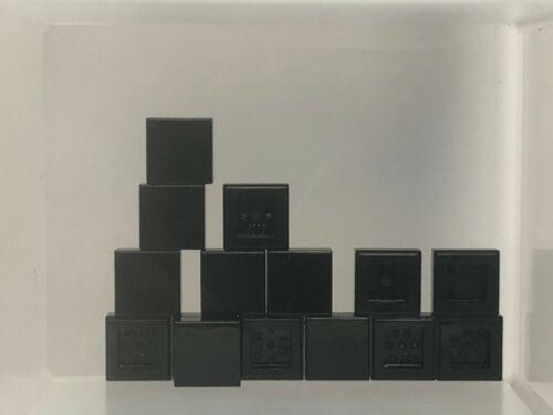 Black Tile 1 x 1 w Groove QTY 15 No 3070b LEGO Parts