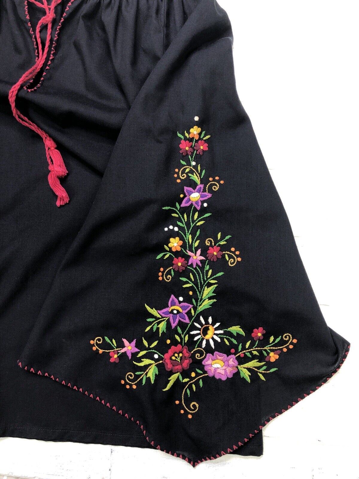 Hungarian Peasant Blouse, Vintage, Hand Embroider… - image 7