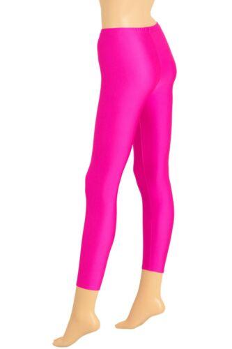Damen Leggings Pink lange Sporthose stretch shiny Yoga Pants hauteng Glanz