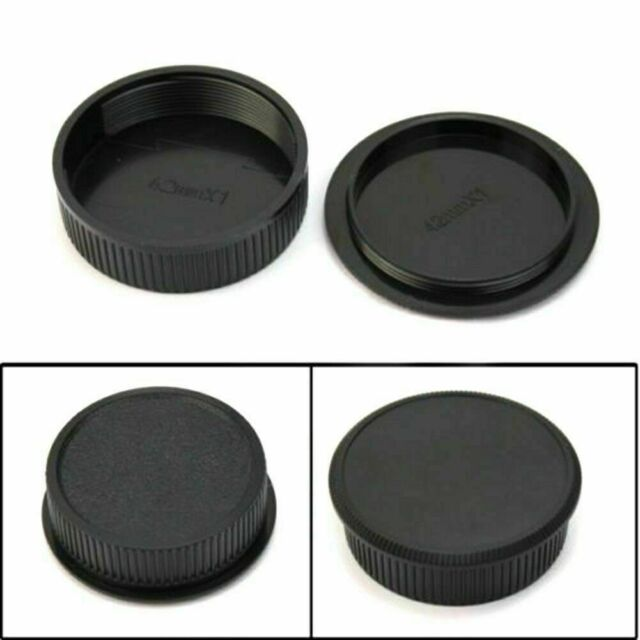 2x 42mm Plastic Front Rear Cap Cover For M42 Digital and S Lens Body Camera W1D4