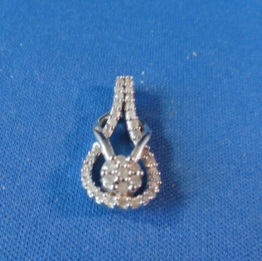 One Half Carat Diamond TW Sterling Pendant - (38) Diamonds -  600 Appraisal