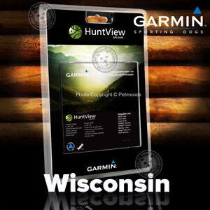 Garmin HuntView WISCONSIN Map SD Card Birdseye 24K Topo Landowner Data Hunt View