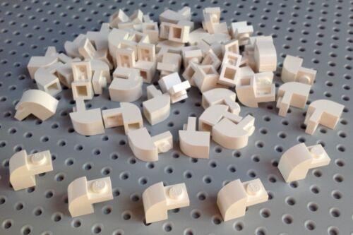 Lego blanc 1x2x1.33 Brick with Curved Top NEUF CITY STAR WARS x10 6091