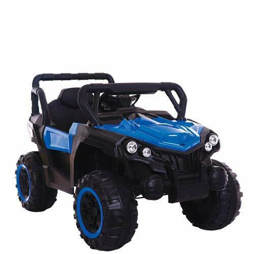 Auto elettrica per bambini jeep 12V bleu con telecomando fuoristrada SUV quad MP3