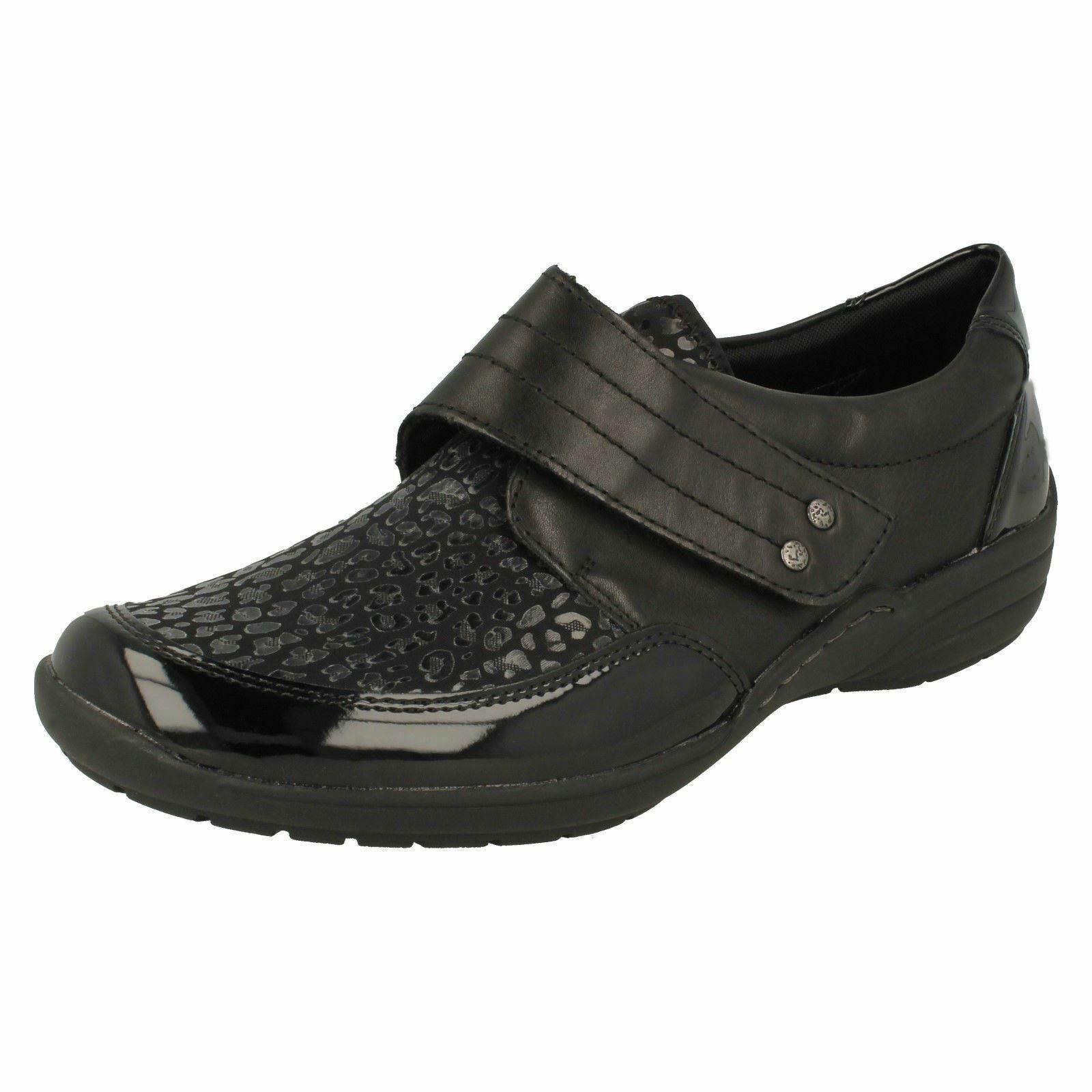Ladies Remonte nero Leather  Rem -Strap Casual scarpe Dimensione r7632  autorizzazione