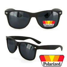 Polarized MATTE RUBBER FINISH Men Women Wayfarer Sunglasses Spring Temple Black