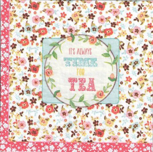 130 It/'s always time for tea design 4 single paper decoupage napkins