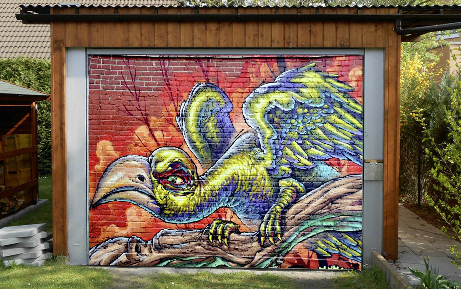 3D Graffiti Aquila Garage Porta Stampe Parete Decorazione Murale AJ WALLPAPER IT