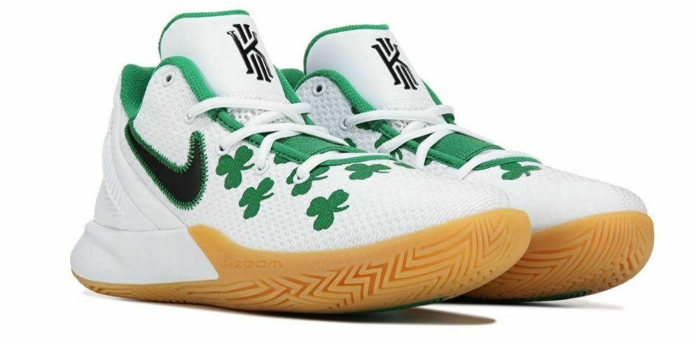 new concept 6a92d 66f94 NIKE KYRIE FLYTRAP II MEN COMFY SUPPORT BREATHABLE BASKETBALL SHOE WHITE  GREEN