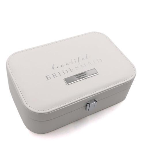 Beautiful Bridesmaid Leatherette Jewellery Box Gift Personalised WG915