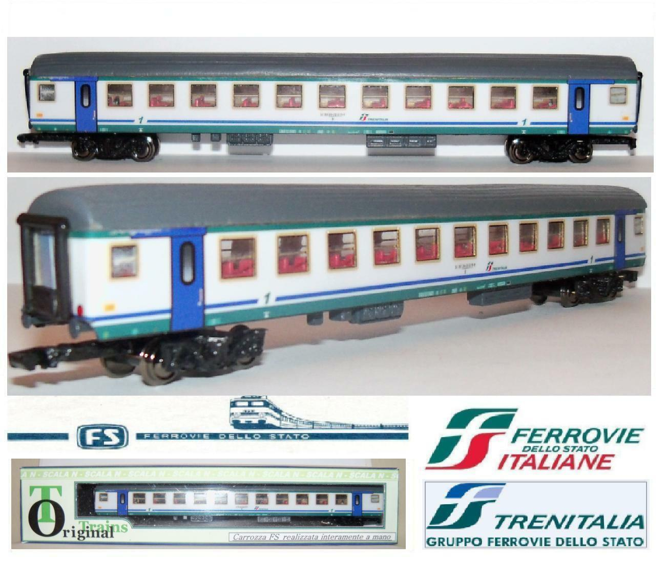 Carriage craft hand-made passengers 1a CL xmpr FS Trenitalia  Scale-N