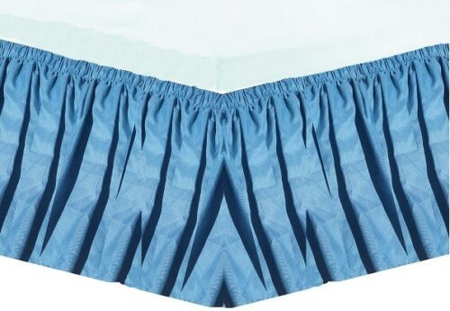 Elastic Bed Skirt Dust Ruffle Easy Fit any size King CA-K Queen Full Twin