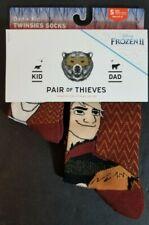 Dad//Kid 2pk Disneys Kristoff Frozen Is Life Crew Socks Pair Of Thieves SM,MED,LG